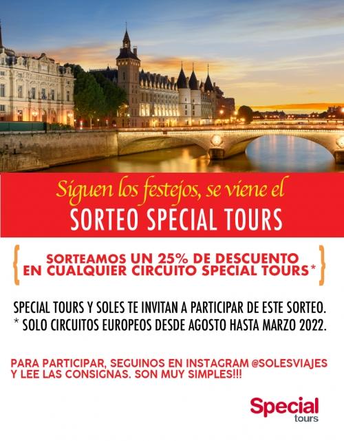 SORTEO SOLES 20 AÑOS SPECIAL TOURS